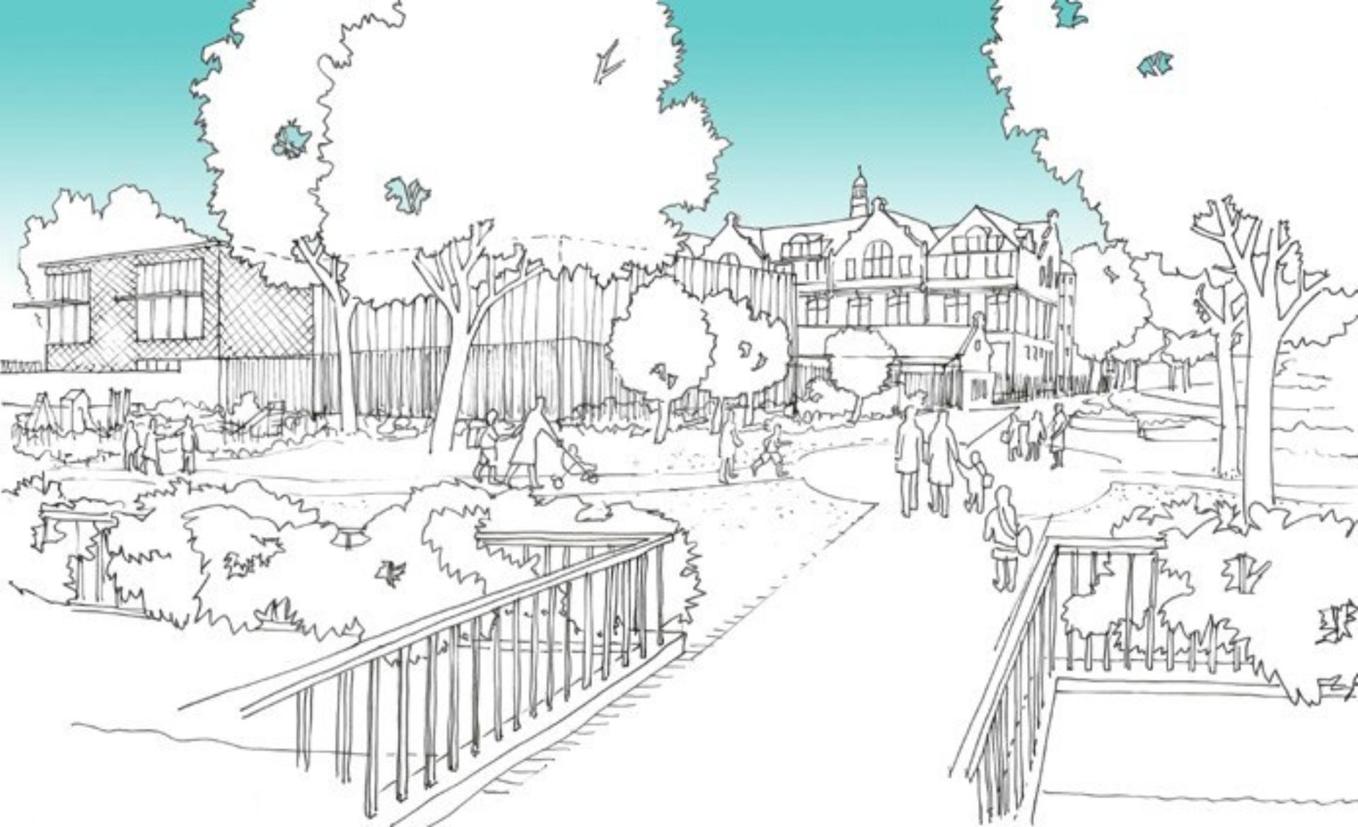 Sketch Of Stonebridge Primary School