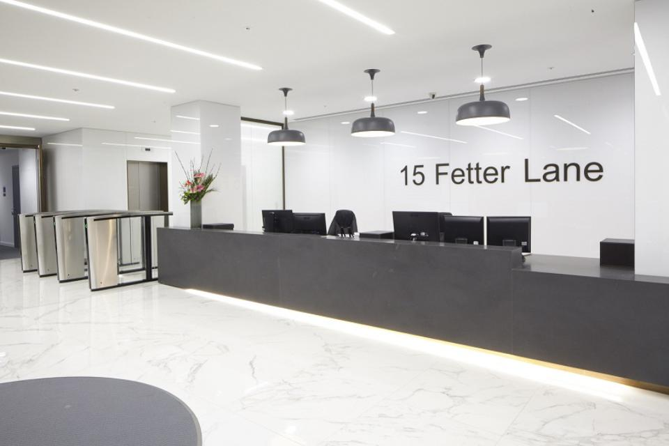 15 Fetter Lane Reception Area